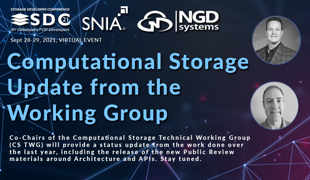 Computational Storage Update from the Working Group