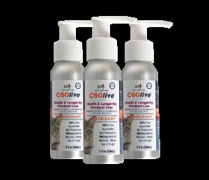 An image of C60 Longevity for Cats 3-Bottle Bundle